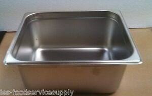 lot Of 6 Half Size 6 Deep Stainless Steamtable Pans Hot Food Table Steam Pan