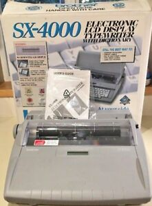 Brother Sx 4000 Electronic Typewriter W Lcd Display And Correcting Daisy Wheel