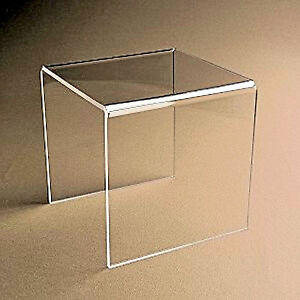 2 Clear Acrylic Plastic Risers Display Stand Pedestal 8 X 8 X 8