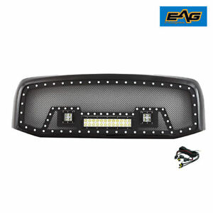 06 08 Dodge Ram 1500 Grille Rivet Black Ss Wire Mesh With Shell