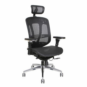 Thornton s Ergoexec High Back Mesh Executive Swivel Office Chair Black