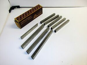 9 Armstrong Cobalt Rectangular Blanks Lathe Cutting Tool Bits New