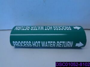 Qty 5 Seton Process Hot Water Return Water Pipe Markers Size 12md Snap Pipe