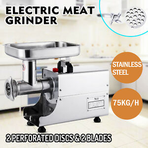 Commercial 80kg h Steel Meat Grinder 2 Knifes Home Stainless Spare Blade Good