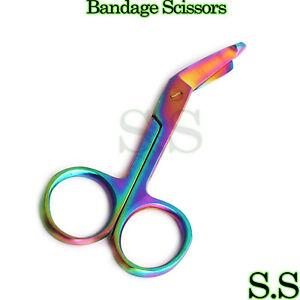 1 Lister Bandage Nurse Scissors 3 5 Multi Titanium Color Rainbow Nurse