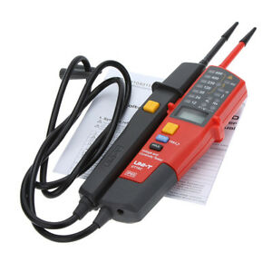 Auto Range Voltage Continuity Electrical Tester Ac dc 12 690v Lcd Led Hold Rcd