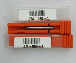 Micro 100 Tm 060 4 Carbide End Mill Lot Of 2 Brand New