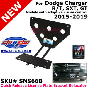 Sto N Sho Sns66b For 2015 2019 Dodge Charger Sxt gt rt aac License Plate Bracket
