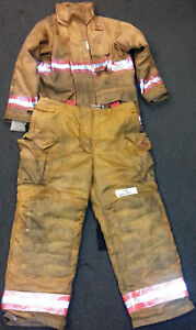 Firefighter Set Jacket 42x30 Pants 40x30 Bunker Turn Out Gear Securitex S9