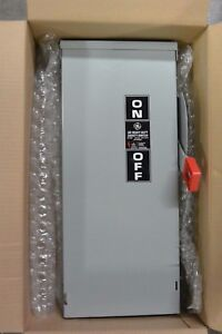 New Ge Th4323r 100 Amp 250 Volt Fusible Outdoor Disconnect