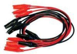 Alligator Clips 100 Twelve Inch Leads 50 Red Pairs 50 Black Pairs