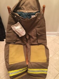 Chieftain Firefighter Turnout Gear Apparel Pants Men s Size Large Tan New