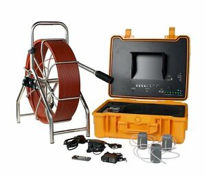 200 Ft Sewer Pipe Wall Snake Video Camera System Dvr W Built In Transmitter