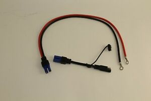 Portable Jump Starter Cable For Permanent Mount And Trickle Charger Adapter