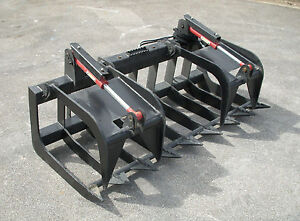 Bobcat Skid Steer Attachment 72 Heavy Duty Root Grapple Bucket Free Ship