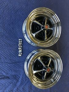 2 Ford Mopar Dodge Chrsler Magnum 500 Wheels 15x6 Chrome Blems