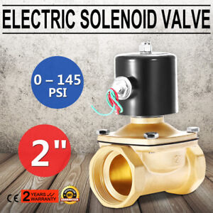Ac 110v 2 Brass Electric Solenoid Valve For Water Air Gas Normally Closed