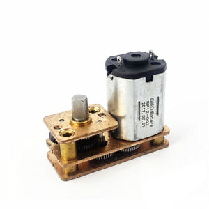 Micro 7 type N20 Full Metal Mini Gear Motor Dc 1 5v 6v 3v Slow Speed Diy Robot
