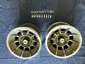 Vintage Pair 15x8 1 2 Dukes Of Hazzard Vector Wheels Chevy 4 3 4