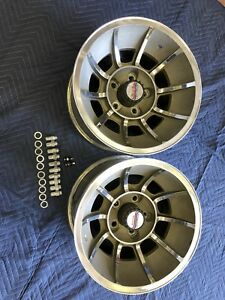 Vintage Pair 15x8 1 2 Dukes Of Hazzard Vector Wheels Chevy 5on4 3 4