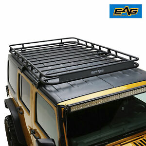 2007 2018 Jeep Wrangler Jk 4 Door Roof Rack Cargo Basket Heavy Duty