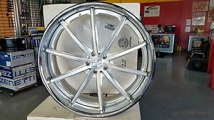 24 Lexani Forged Ls108 Custom Wheels Rims 24x9 Brushed Face Mercedes Audi 5x112