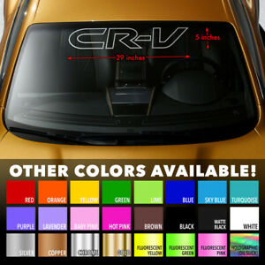 Honda Crv Cr V Outline Windshield Banner Vinyl Long Lasting Decal Sticker 29 X5