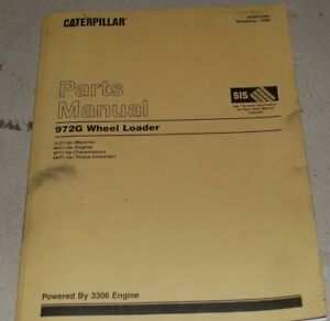 Cat Caterpillar 972g Wheel Loader Parts Manual Book Catalog Front End 1998 List