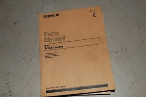 Cat Caterpillar 943 Track Loader Parts Manual Book Catalog Front End Crawler