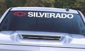 Silverado Decal Window Windshield Sticker Side Bed Or Tailgate Vinyl Sign