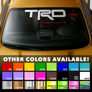 Windshield Banner Vinyl Decal Sticker 28x7 For Trd Tacoma Toyota Camry Corolla