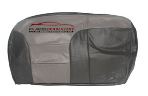 99 00 Chevy Tahoe Z71 Second Row Bench 60 Bottom Leather Seat Cover 2 Tone Gray