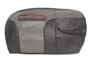 1999 Chevy Tahoe Z71 Second Row Bench 60 Bottom Leather Seat Cover 2 tone Gray