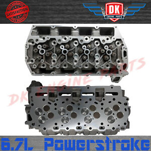 New 11 14 Ford 6 7l Powerstroke 6 7 Cylinder Heads Pair 2 Complete Valve Train