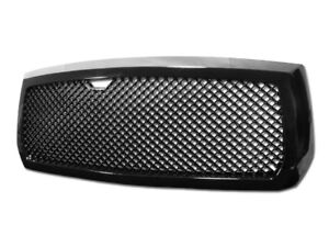 Gsp Black Bentley Mesh Style Front Hood Grill Grille Kit Abs Replacement 05 07 D