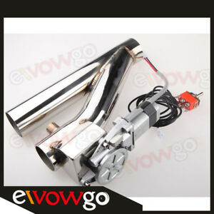2 Electric Exhaust Downpipe Catback E Cutout Valve Kit Switch Control