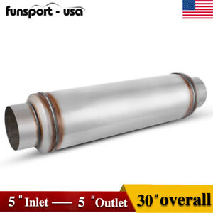 5 Inlet outlet 30 Inch Overall Performance Diesel Muffler Exhaust Resonator