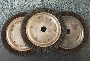 Lot Of 3 Advance 00115 Knot Wire Brush Wheel 10 X 3 4 5400 Rpm Die Grinder Usa