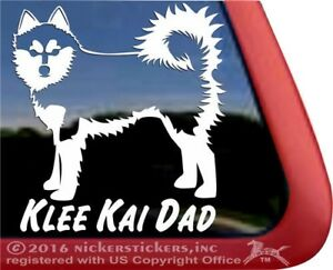 Klee Kai Dad Alaskan Klee Kai Vinyl Dog Decal Sticker