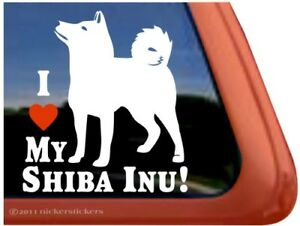 I Love My Shiba Inu High Quality Vinyl Dog Window Decal Sticker