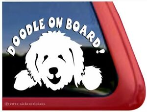 Doodle On Board Goldendoodle Labradoodle Vinyl Dog Window Decal Sticker