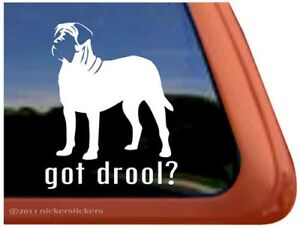 Got Drool High Quality Vinyl English Mastiff Window Decal Sticker