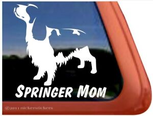 Springer Mom High Quality Vinyl Springer Spaniel Window Decal Sticker