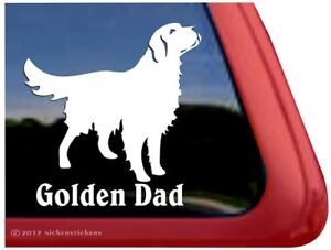 Golden Dad Golden Retriever Vinyl Dog Window Decal Sticker