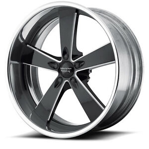 18x8 18x9 American Racing Vn472 Burnout Wheels Rims For Ford Mustang 1971 1972