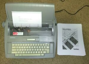Brother Sx 4000 Electronic Portable Typewriter Electric Daisy Wheel Manual Lcd