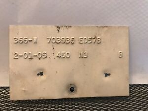 58 1958 Edsel Cowl Data Body Plate Trim Code Tag