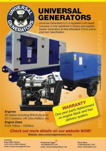 100kw Diesel Generator Free Shipping Worldwide Africa Carribean So Amer
