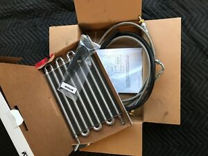 E4od Ford F150 bronco 3 8 Trans Cooler Kit Stainless Lines