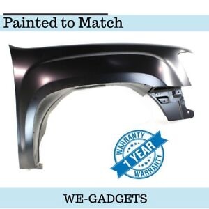 Painted To Match Fits Gmc Sierra Pickup 07 14 Front Side Fender Gm1241342